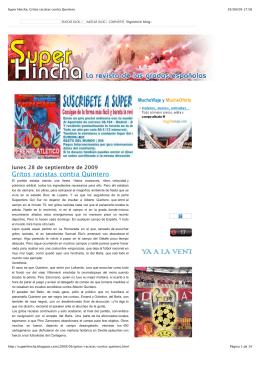 Super Hincha_ Gritos racistas contra Quintero