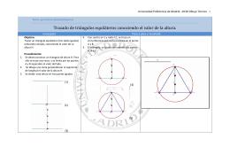 Trazado de triángulos equiláteros conociendo el valor