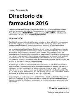 2016 Pharmacy Directory California - Spanish