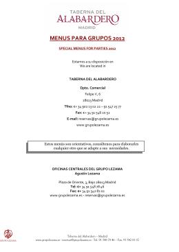 menus 2012 taberna del alabardero español-ingles
