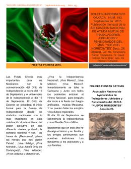 jubilados septiembre - Bienvenidos a la Sección XXVIII Oaxaca