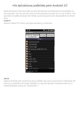 Mis aplicaciones preferidas para Android (II)
