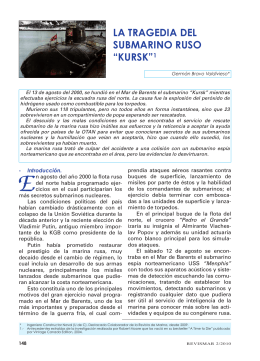 "la tragedia del submarino ruso ""kursk"""