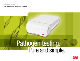 Molecular Detection System (MDS) for pathogens