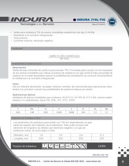 INDURA 316L-TIG