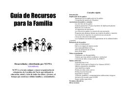 Guía de Recursos para la Familia