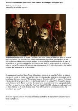 Slipknot no se separan: confirmados como cabezas de cartel para