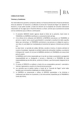Consulta de pagos - Tesorería General de la Provincia de