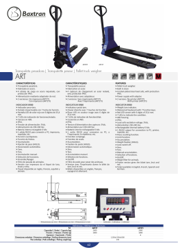 Transpaleta pesadora | Transpalette peseur | Pallet truck weigher h