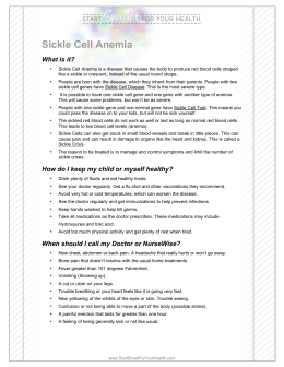 Sickle Cell Anemia - Magnolia Health Plan
