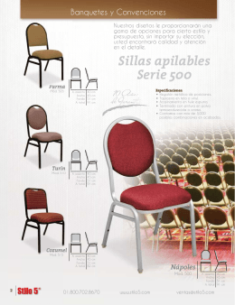Sillas apilables Serie 500
