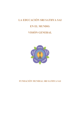 Prólogo y contenidos - International Sri Sathya Sai Organization