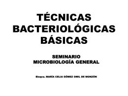 TÉCNICAS BACTERIOLÓGICAS BÁSICAS