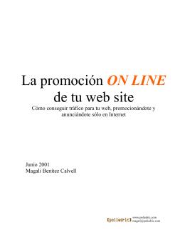 la promocion online de tu website