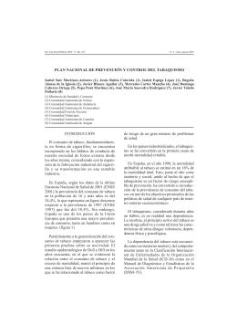 Plan Nacional de Prevención y Control del Tabaquismo