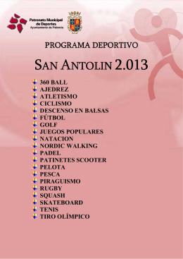 san antolin 2.013 - Patronato Municipal de Deportes