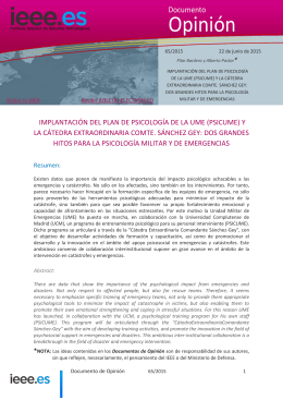 PSICUME - Instituto Español de Estudios Estratégicos