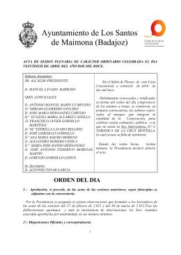 Pleno 26-04-2012 - Ayuntamiento de Los Santos de Maimona