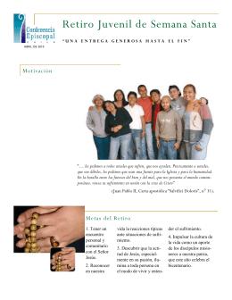 Retiro Juvenil de Semana Santa 2010