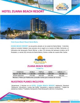 HOTEL ZUANA BEACH RESORT UANA BEACH