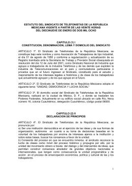 Estatutos 2008 - Sindicato de Telefonistas de la República Mexicana