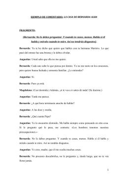 "Fragmento comentado de ""La casa de Bernarda Alba"""