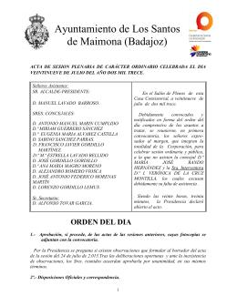Pleno Ordinario 29-07-2013 - Ayuntamiento de Los Santos de