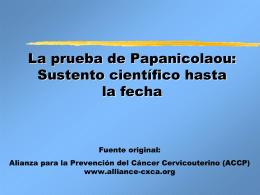La prueba de Papanicolaou
