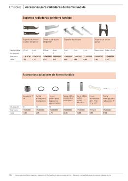 Emisores accesorios para radiadores de hierro fundido