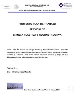 PROYECTO PLAN DE TRABAJO SERVICIO DE CIRUGIA