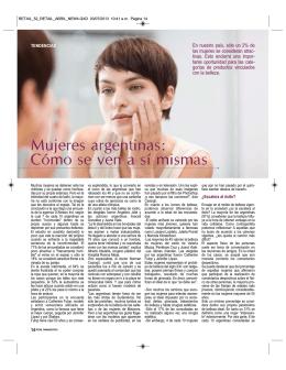 Mujeres argentinas: Cómo se ven a sí mismas