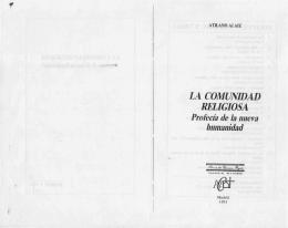 LA COMUNIDAD RELIGIOSA Profecia de Ia nueva