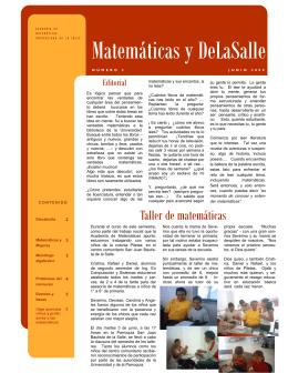 Matemáticas y DeLaSalle - Facultad de Ingeniería en Computación
