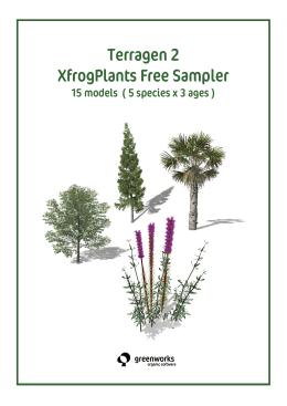 Terragen 2 XfrogPlants Free Sampler