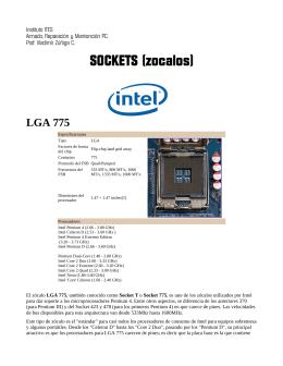 SOCKETS (zocalos) - Material de apoyo cursos