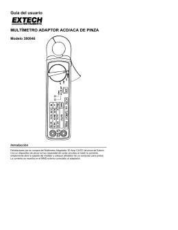 Guía del usuario MULTÍMETRO ADAPTOR ACD/ACA DE PINZA