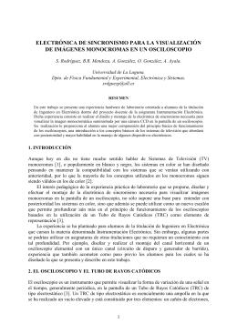 ELECTRÓNICA DE SINCRONISMO PARA LA - e