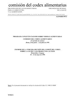 ALINORM 99/11 (S) - CODEX Alimentarius