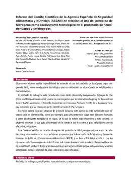 Informe del Comité Científico de la Agencia Española de Seguridad