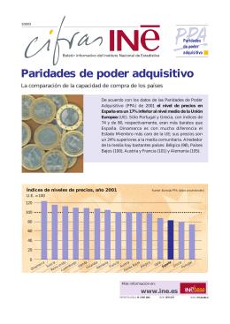 Paridades de poder adquisitivo - Instituto Nacional de Estadística