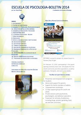 ESCUELA DE PSICOLOGIA -BOLETIN 2014