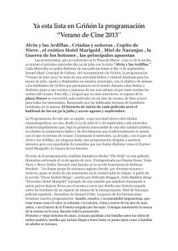 """Ya esta lista en Griñón la programación """"Verano de Cine 2013″"""