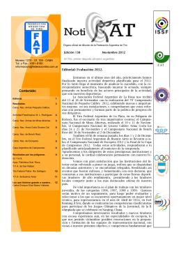 Noviembre 2012 - Nº 138 - Federación Argentina de Tiro