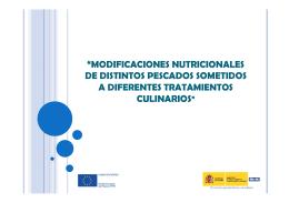 """""""MODIFICACIONES NUTRICIONALES DE DISTINTOS PESCADOS"""