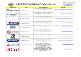 Pan, Bollería y Pastelería Industrial