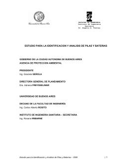 estudio para la identificacion y analisis de pilas y baterias