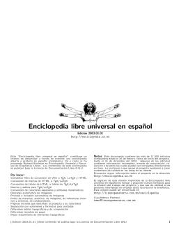 Enciclopedia libre universal en espa˜nol