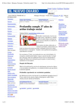 El Nuevo Diario - Managua, Nicaragua