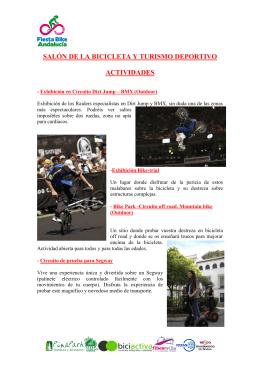 descripcion actividades fiesta bike 2013
