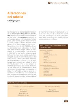 Alteraciones del cabello - Asociación Española de Pediatría